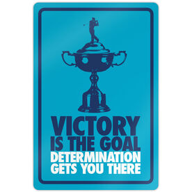 "Golf Aluminum Room Sign (18""x12"") Victory is the Goal Male"
