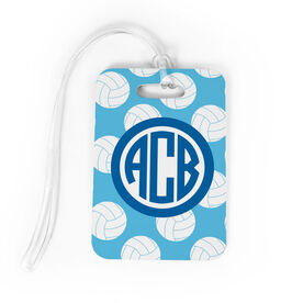 Volleyball Bag/Luggage Tag - Personalized Volleyball Pattern Monogram