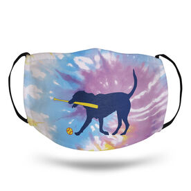 Softball Face Mask - Mitts The Softball Dog Tie-Dye