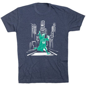Running Short Sleeve T-Shirt - NYC 13.1 Times Square Liberty (No Date)