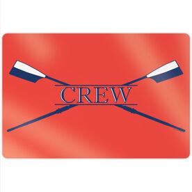 """Crew 18"""" X 12"""" Aluminum Room Sign - Crest"""