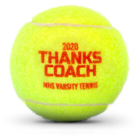 Personalized Tennis Ball - Thanks Coach
