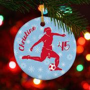 Soccer Porcelain Ornament Personalized Soccer Girl