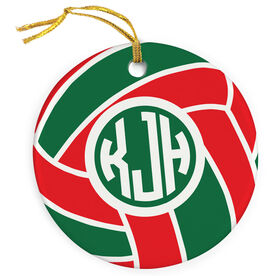 Volleyball Porcelain Ornament Personalized Monogram