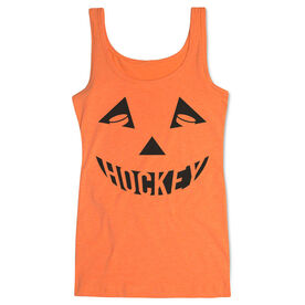 Hockey Women's Athletic Tank Top - Hockey Pumpkin Face