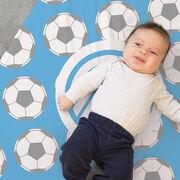 Soccer Baby Blanket - Soccer Pattern