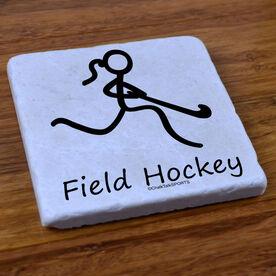 Field Hockey Girl (Stick Figure) - Stone Coaster