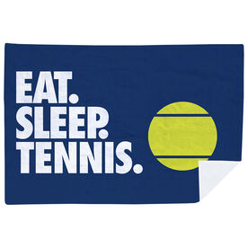 Tennis Premium Blanket - Eat. Sleep. Tennis. Horizontal