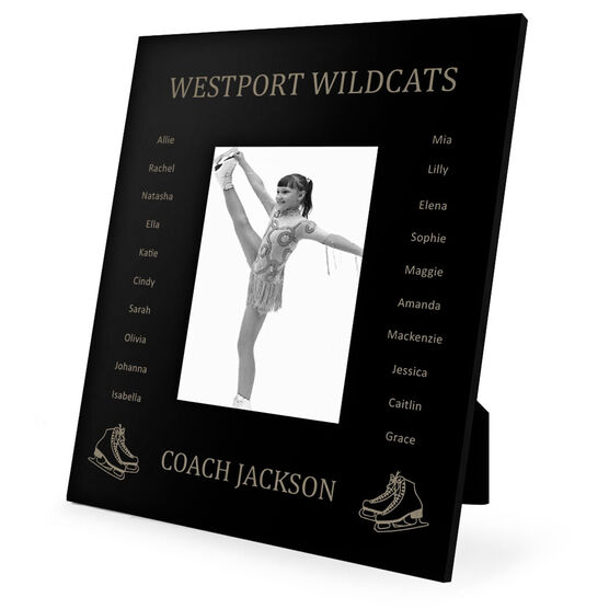 Figure Skating Engraved Picture Frame - Team Name With Roster (Coach)