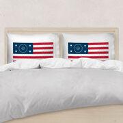 Wrestling Pillowcase - American Flag Words