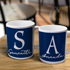 Script Name with Initial Personalized Coffee Mug