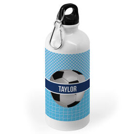 Soccer 20 oz. Stainless Steel Water Bottle - Personalized 2 Tier Patterns with Soccer Ball