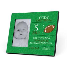 Football Photo Frame - Birth Announcement