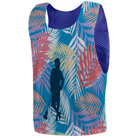 Guys Lacrosse Pinnie - Palm Lax with Silhouette