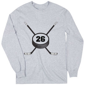 Hockey Tshirt Long Sleeve Personalized Hockey Number