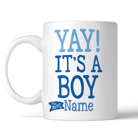 Yay! It's A Boy Personalized Mug