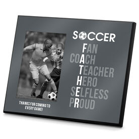 Soccer Photo Frame Soccer Father Words