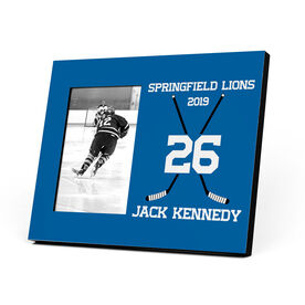 Hockey Photo Frame - Crossed Hockey Sticks