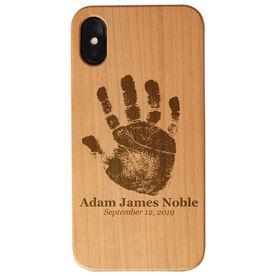 Personalized Engraved Wood IPhone® Case - Baby Handprint