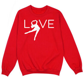 Figure Skating Crew Neck Sweatshirt - LOVE Figure Skater