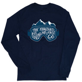 Skiing & Snowboarding Tshirt Long Sleeve - The Mountains Are Calling