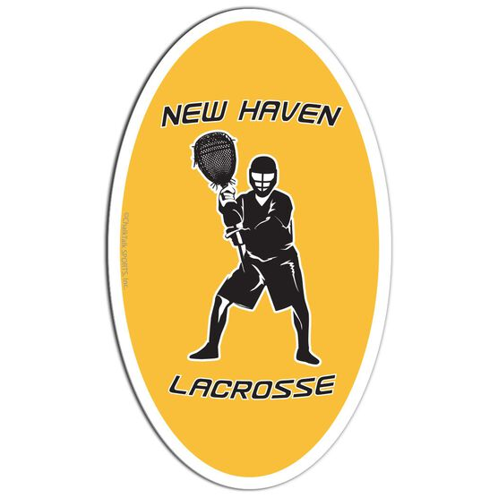 Lacrosse Oval Car Magnet Personalized Goalie