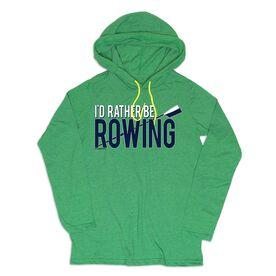 Women's Crew Lightweight Hoodie - I'd Rather Be Rowing