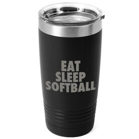 Softball 20 oz. Double Insulated Tumbler - Eat Sleep Softball