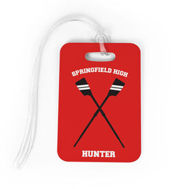 Crew Bag/Luggage Tag - Personalized Team Crossed Oars