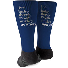 Baseball Printed Mid-Calf Socks - Mantra New York