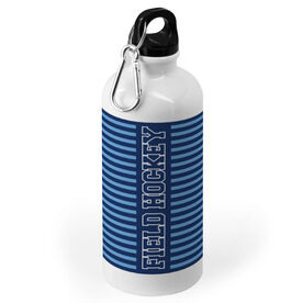 Field Hockey 20 oz. Stainless Steel Water Bottle - Word With Stripes