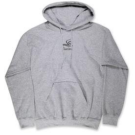 Swimming Standard Sweatshirt - Swim Black Stick Figure