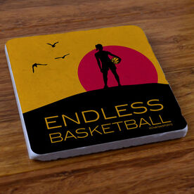 Endless Basketball (Girl) - Stone Coaster