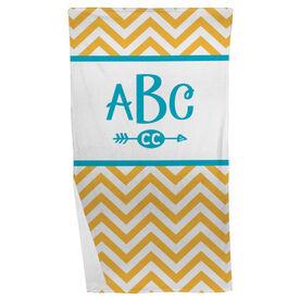 Cross Country Beach Towel Chevron Monogram