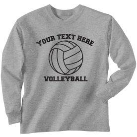Custom Volleyball T-Shirt Long Sleeve
