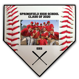 Baseball Home Plate Plaque - Horizontal Photo