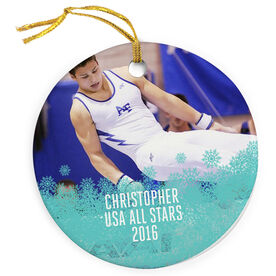 Gymnastics Porcelain Ornament Your Photo Here