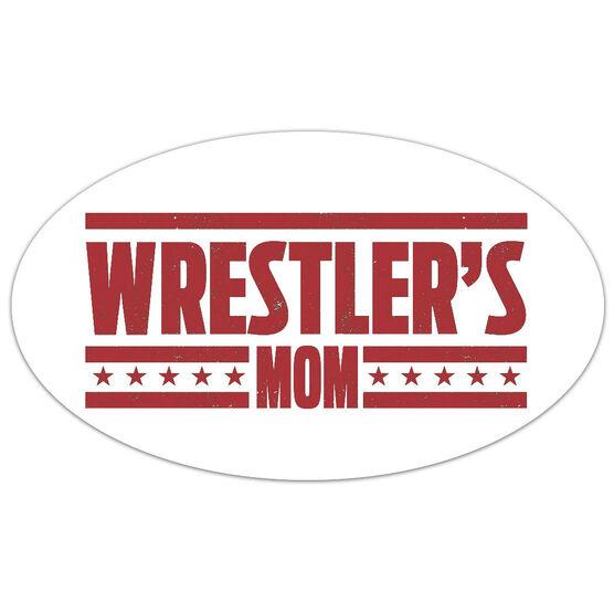 Wrestling Oval Car Magnet Wrestler's Mom