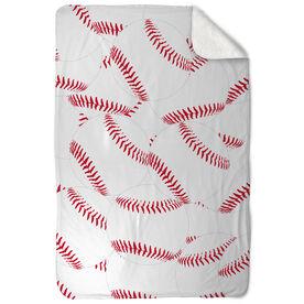 Baseball Sherpa Fleece Blanket You're Surrounded