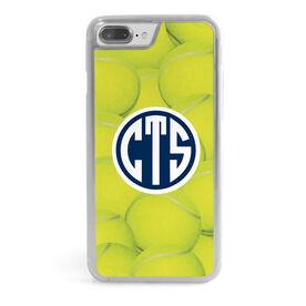 Tennis iPhone® Case - Monogrammed Tennis Ball Background