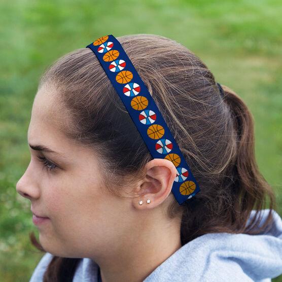 Basketball Julibands No-Slip Headbands - Basketball Stripe Pattern