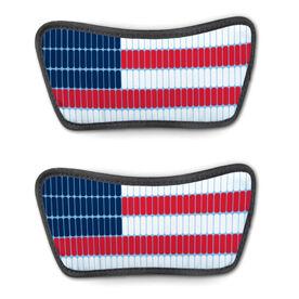 Swimming Repwell® Sandal Straps - Swim Lane American Flag