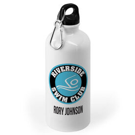 Swimming 20 oz. Stainless Steel Water Bottle - Custom Logo