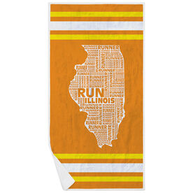 Running Premium Beach Towel - Illinois State Runner