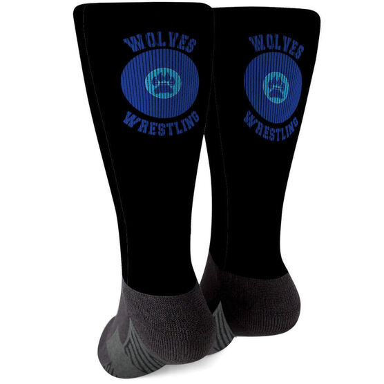 Wrestling Printed Mid-Calf Socks - Your Logo