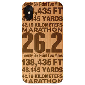 Running Engraved Wood IPhone® Case - 26.2 Math Miles