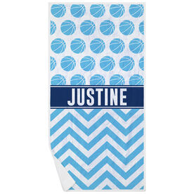 Basketball Premium Beach Towel - Personalized Pattern