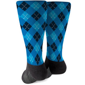 Golf Printed Mid-Calf Socks - Argyle