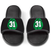Basketball Repwell® Slide Sandals - Basketball With Number