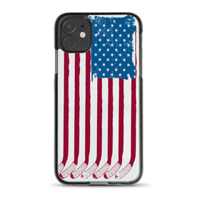 Hockey iPhone® Case - American Flag Sticks